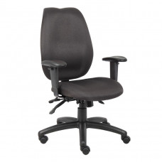 Boss Black High Back Task Chair W/ Seat Slider