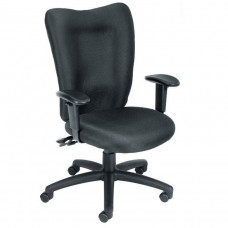 Boss Extended Comfort Commercial Fabric Ajustable Office Chair Black