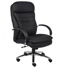 Boss High Back CaressoftPlus™ Exec. Chair W/ Chrome Base